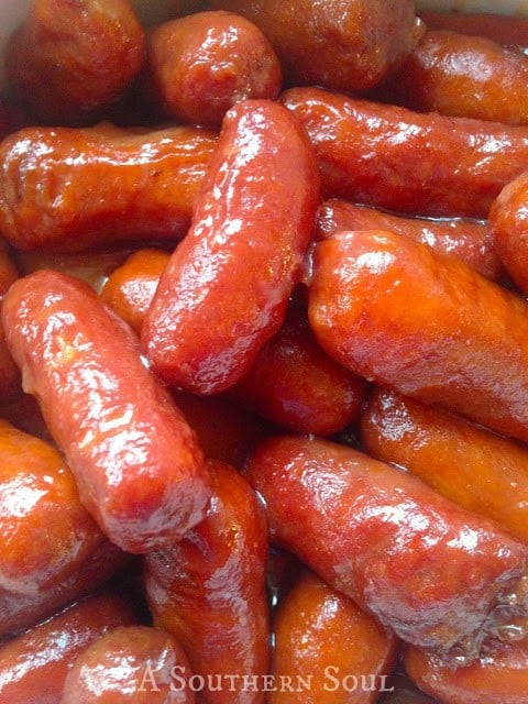 Sweet and Tangy Little Smokies--part of QUICK EASY WAYS TO MAKE LITTLE SMOKIES