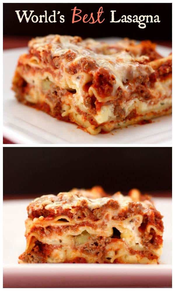 World's best lasagna recipe is right here, along with a gluten free lasagna recipe option! The quintessential recipe for the ultimate Italian comfort food classic.