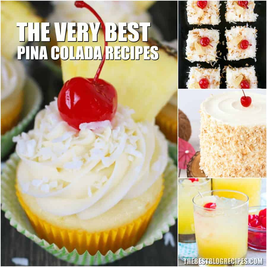 Easy Pina Colada Recipes are exactly what you need this Summer. You will not believe how simple to make and delicious these treats and drinks are!