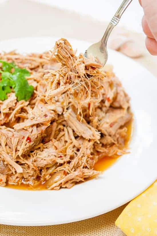 Easy Carolina Style Slow Cooker Pulled Pork. Rich spices and tangy broth make this pulled pork recipe fork-tender in a slow cooker. Tender flaky pulled pork.