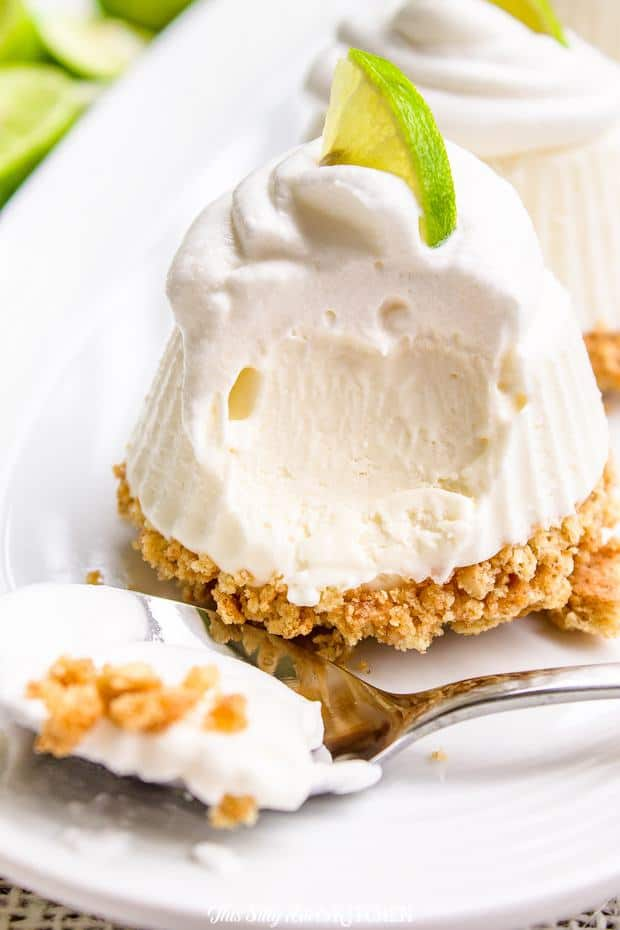 Key Lime Pie, cute little no-bake pies that will have your family raving for more! These individual frozen key lime pies are an easy, mini version of your favorite summertime dessert.