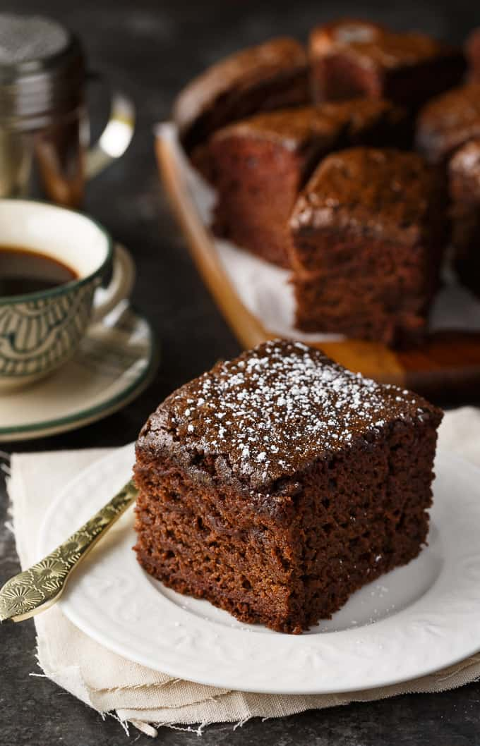Wacky Cake was popular during the Great Depression because of it's unique combination of ingredients. It has NO eggs, milk or butter – items that were scarce during that era. Despite not having these key ingredients, it's surprisingly good. It's moist, chocolatey and easy to make!