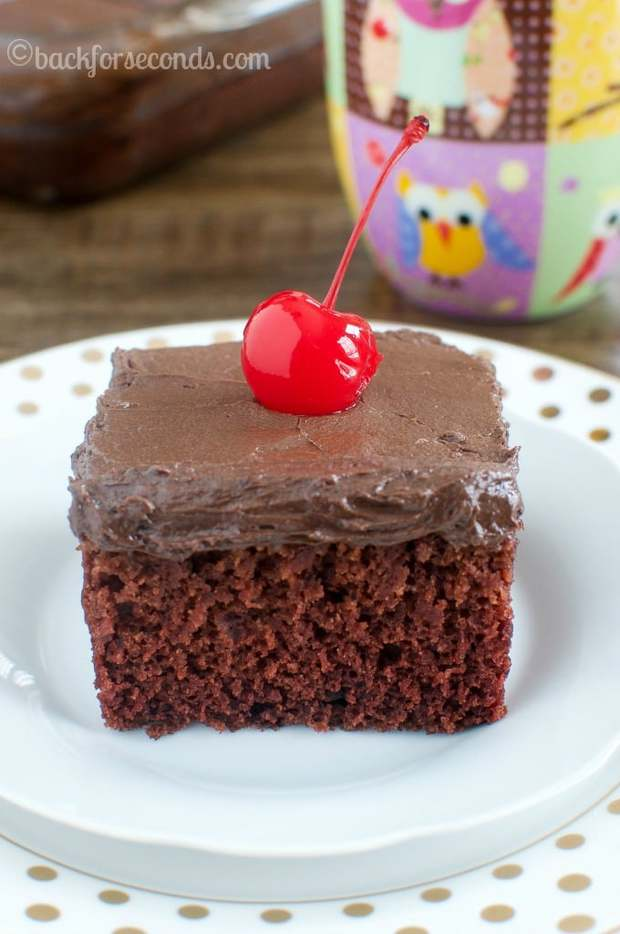Chocolate Crazy Cake is as easy as a box mix, but tastes so much better! This recipe doesn't use butter or eggs so it's budget friendly too!