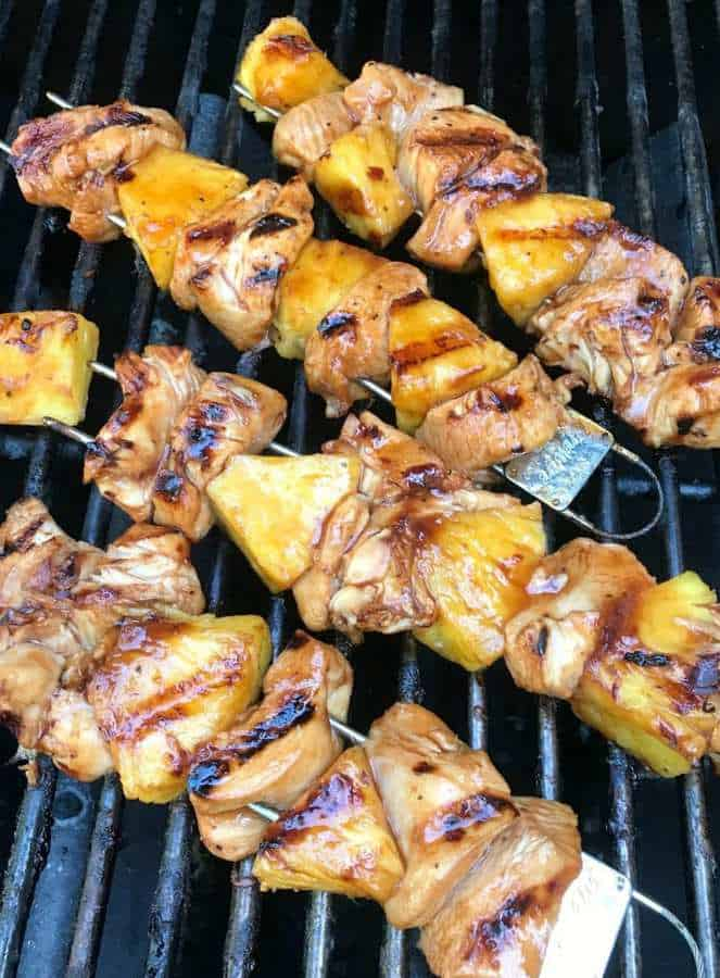 There's just something special about grilled foods. Whether it's meats, veggies or fruit, the smokey flavor that grilling brings always adds extra flavor. This past weekend, I fired up the grilled and tried out a new recipe – marinated chicken and pineapple skewers.