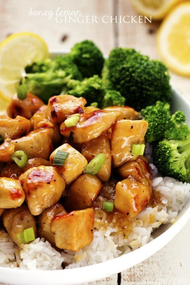 A light and delicious meal that is full of amazing honey lemon ginger flavor that the family will love!