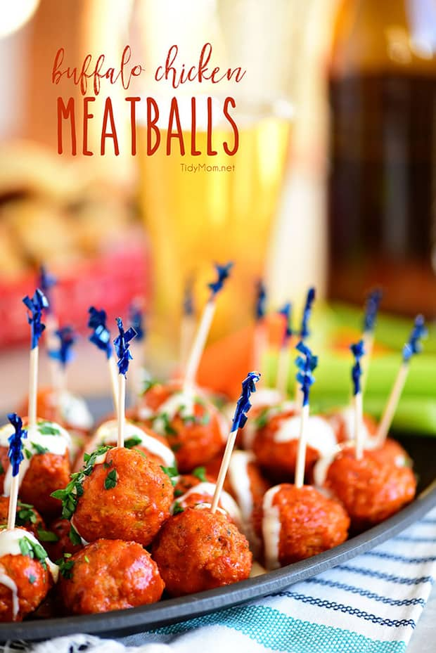 Crowd-pleasingBuffalo Chicken Meatballswith ranch have all the flavors of buffalo hot wings, without the guilt. If you're a fan of buffalo chicken wings, you're going to want this finger-lickin' good recipe.
