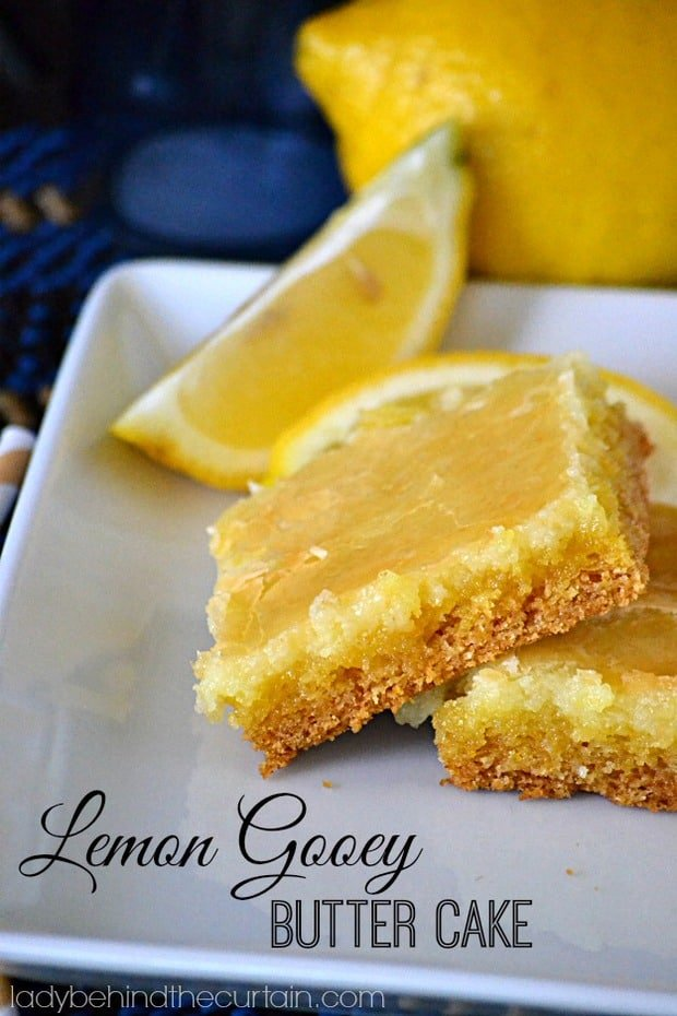 Brace yourself before you take of bite of this creamyLemon Gooey Butter Cake. I promise if you don't you will fall over from sheer delight!