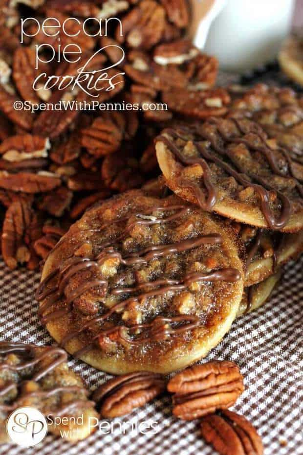 These Pecan Pie Cookies from Spend with Pennies are so yummy and make the perfect fall treat! They are quick and easy to make and come out of the oven smelling delicious! Make them in batches for your friends and family to enjoy at your fun holiday parties this year!