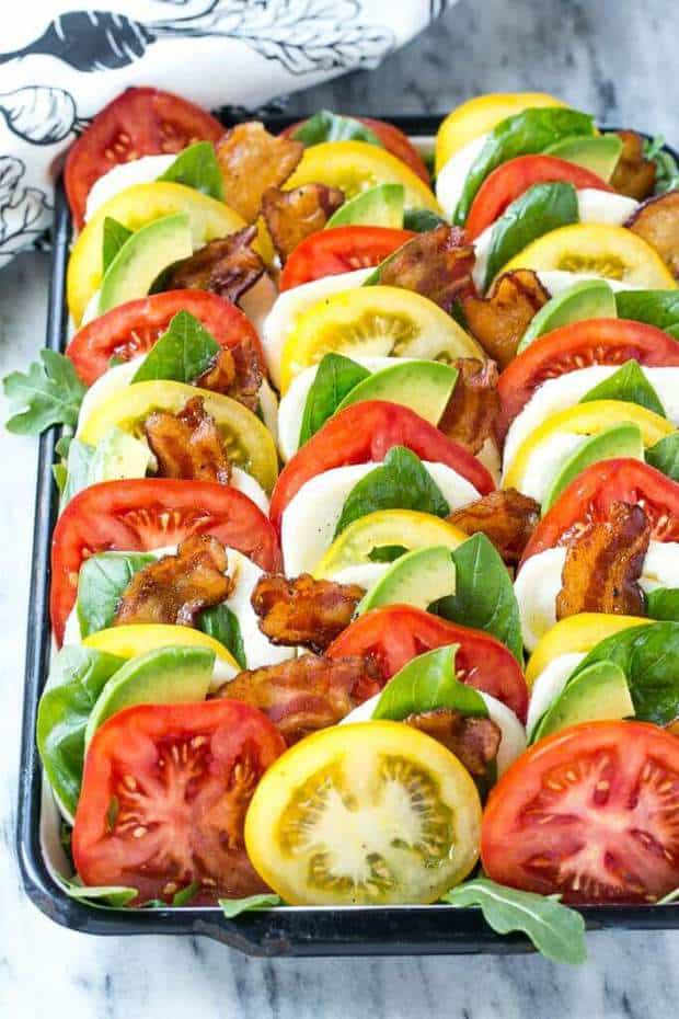 Bacon Caprese Salad -- part of The Best Picnic and Potluck Recipes