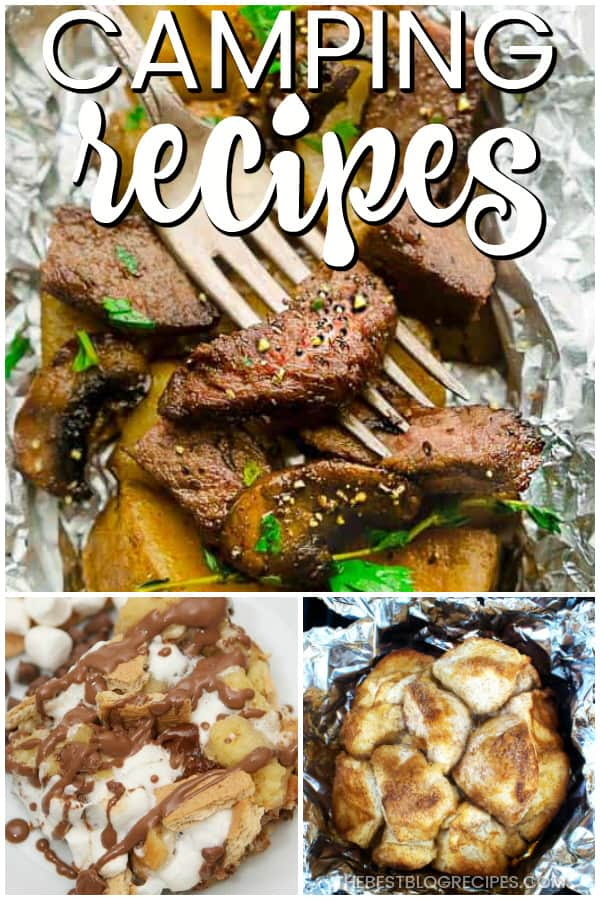 You need Easy Camping Recipes for your next outdoors adventure! The recipes in this list are going to be a hit among your friends and family!