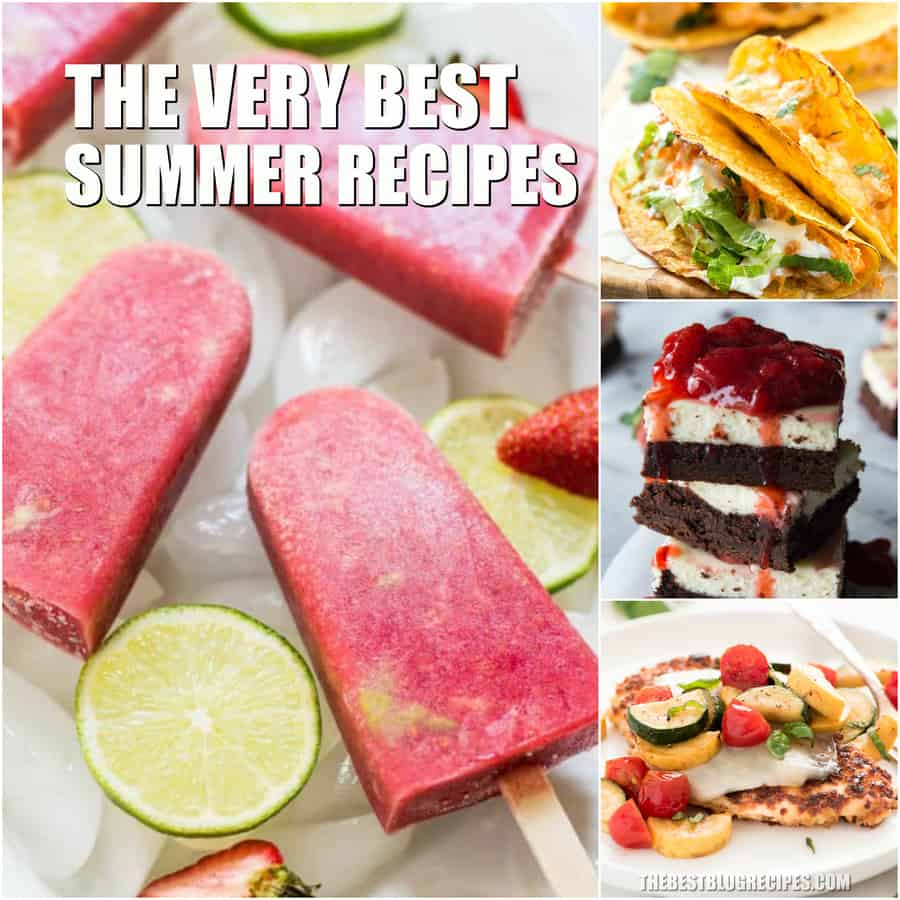 Easy Summer Recipes are are going to be your new favorite dishes and desserts for this time of year! Celebrate Summer with these showstopper recipes!