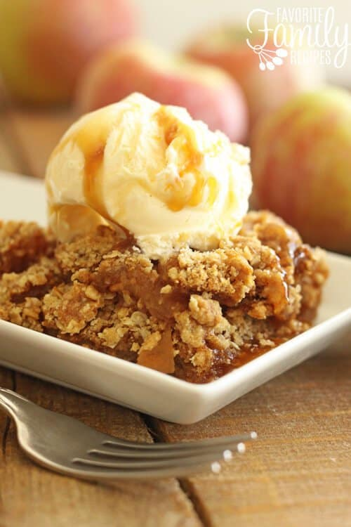 An easy to make favorite fall recipe that just can't be beat! A twist on a holiday classic! This Apple Crisp tastes amazing with it's warm and deliciously sweetened apples in the middle, and a perfectly crunchy top thatyou are going to love! This recipe makes the perfect holiday sweet treat that your friends and family will really love!