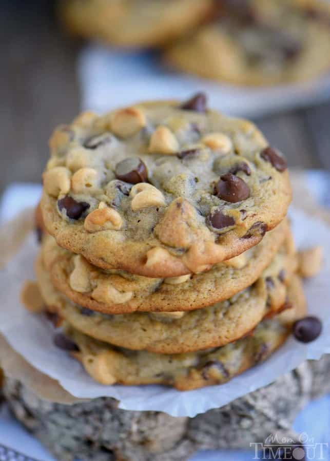 Got ripe bananas? These easy Peanut Butter Banana Chocolate Chip Cookies are WAY more fun than making banana bread and so delicious too! Super soft and absolutely amazing!