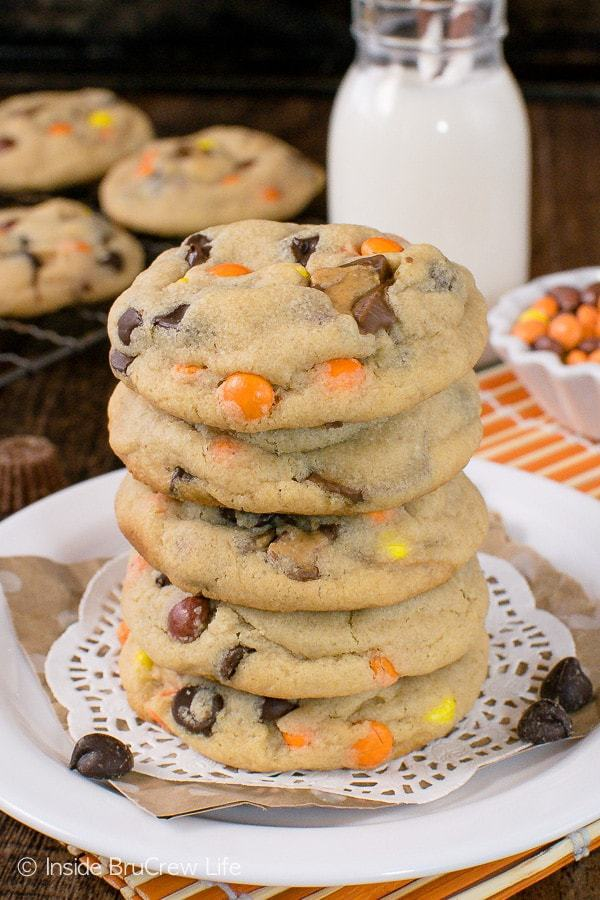 Fill your cookie jar with a batch of these Reese's Peanut Butter Pudding Cookies today! Soft and chewy cookies are always a good idea.
