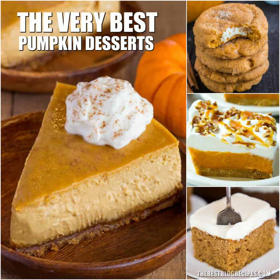Favorite Pumpkin Dessert Recipes are what is missing from your recipe book. Pumpkin recipes are a Fall staple and these are the best of the best. The sweet desserts in this list will have you falling in love with Pumpkin treats all over again!