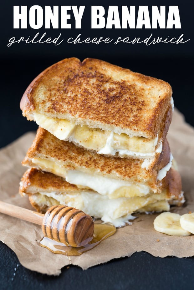 This Honey Banana Grilled Cheese Sandwich is good that you'll think you're eating it for dessert! If you need a quick recipe to impress, this is the perfect one to try. I used creamy, sweet mascarpone cheese along with slices of bananas and a drizzle of honey. Each bite is perfection!