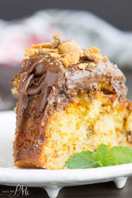 Butterfinger Pound Cake With Chocolate Ganache The Best