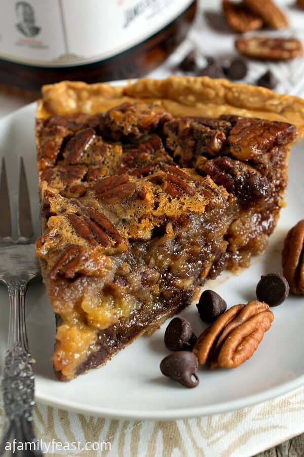 This pie takes your favorite classic dessert and kicks it up a few notches! This grown-up dessert will be a huge hit with your friend, family and neighbors this holiday season. With it's sweet deliciousness it is sure to become your new favorite fall sweet treat!