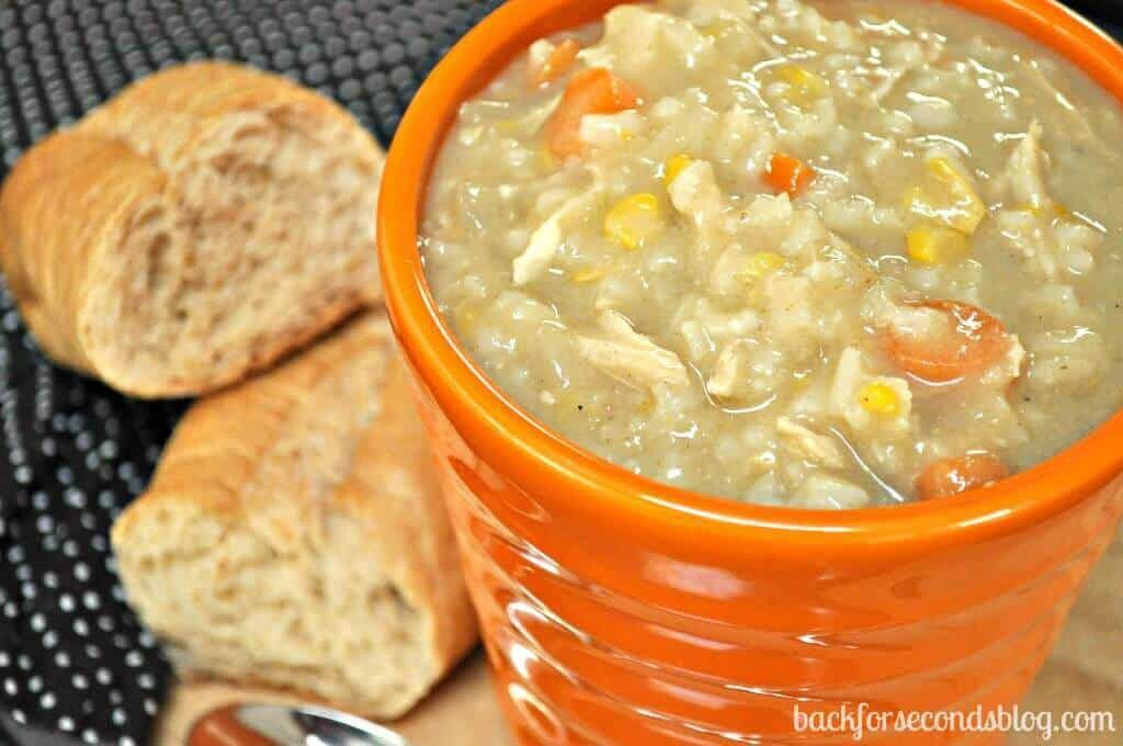 Easy Crock Pot Creamy Chicken And Rice Soup The Best Blog Recipes
