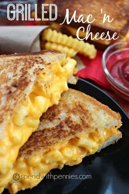 This Grilled Mac and Cheese Sandwich is an awesome sandwich combining two childhood favorites!