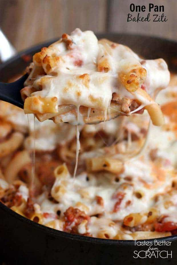 One Pan Baked Ziti The Best Blog Recipes