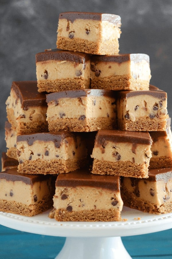 Seriously, these bars are outrageous in the best kind of way. If you are the kind of person that finds yourself eating half of the cookie dough out of the bowl while making cookies, these are absolutely made for you!