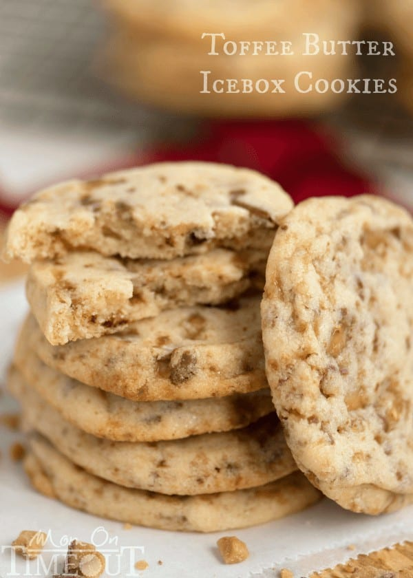 You're just six ingredients away from these melt in your mouth goodToffee Butter Icebox Cookies!