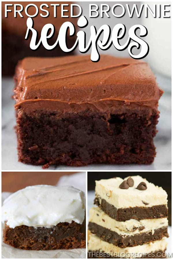 Frosted Brownie Recipes are some of the most enticing and delicious desserts on the planet. The recipe in this list are rich, flavorful, and about to make you never want store bought brownies again. Get ready to fall in love with brownies all over again!