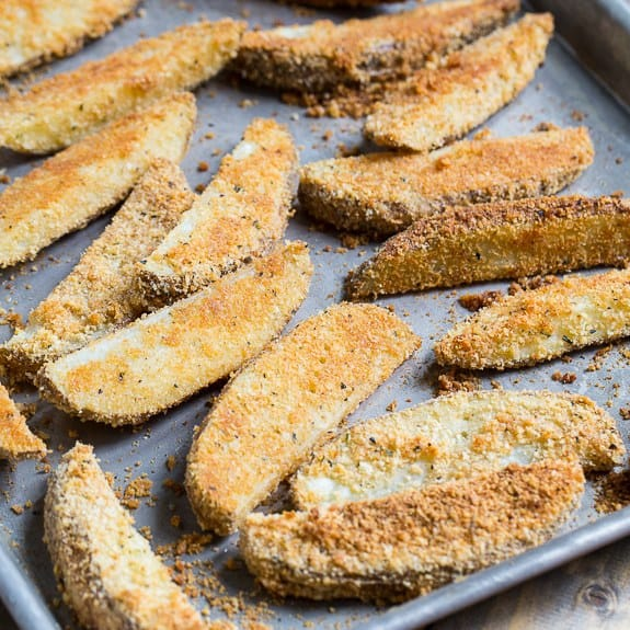 A packet of Ranch Dressing Mix, grated Parmesan cheese, and bread crumbs really flavor up some potato wedges. Parmesan Crusted Ranch Potato Wedges are great on their own or dip them in Ranch dressing for a double dose of Ranch flavo