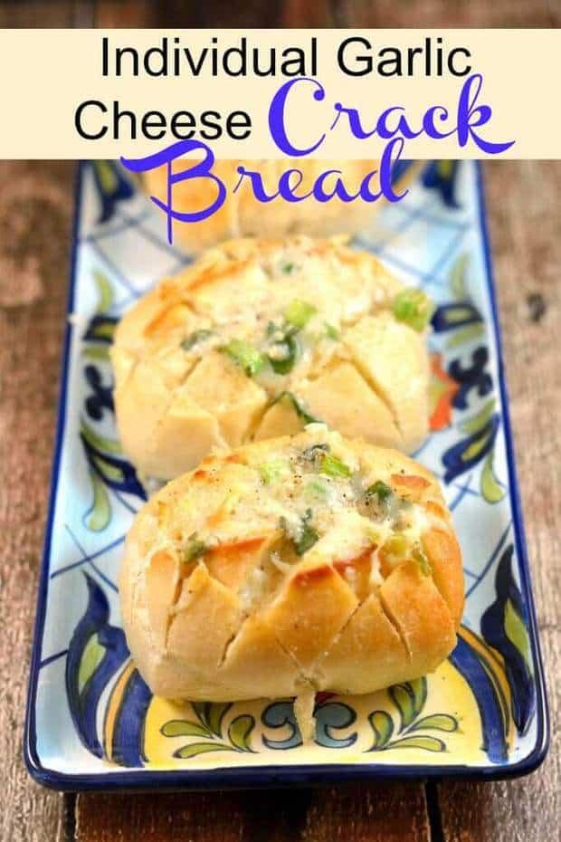 "Individual Garlic Cheese ""Crack Bread"""