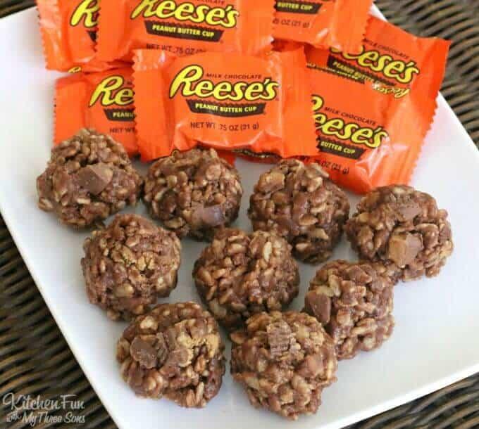 No Bake Reese's Krispie Cookies