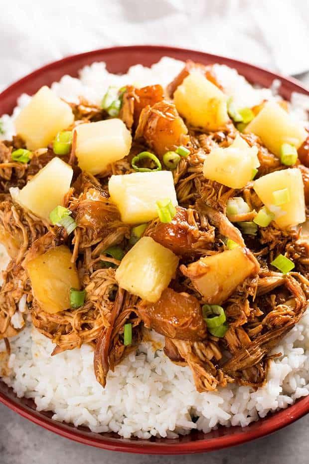 CROCK POT HAWAIIAN BBQ CHICKEN -- Part of The Best Crock Pot Dinner Recipes