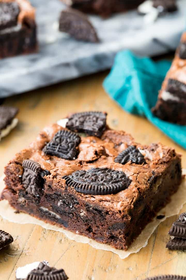 These rich, fudgy Oreo brownies are made with a handful of simple ingredients and can be whipped up in just one bowl! Make sure to check out the video on how I make them in my own kitchen!