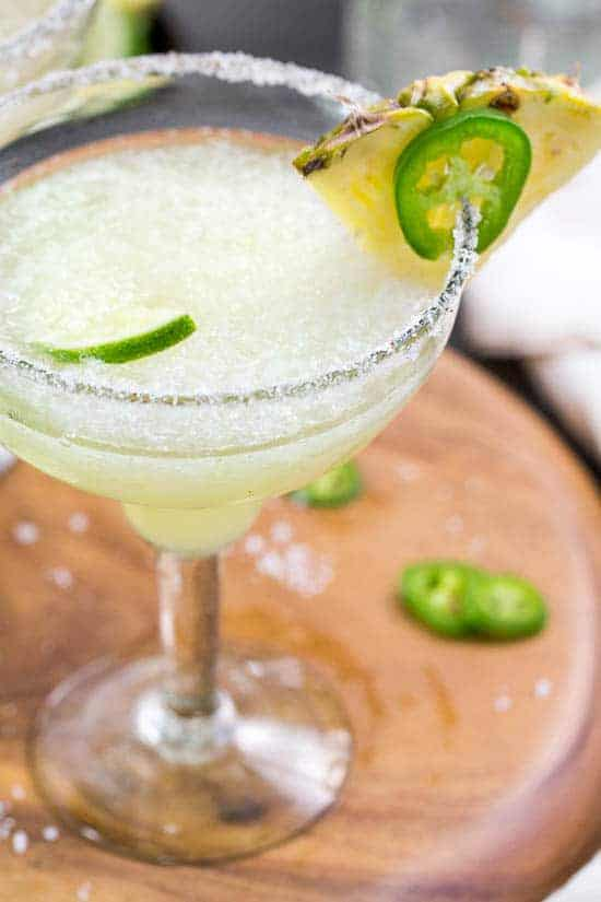 Pineapple, Jalapeno, & Ginger Margarita Slushies -- Part of the Best Alcoholic Drinks