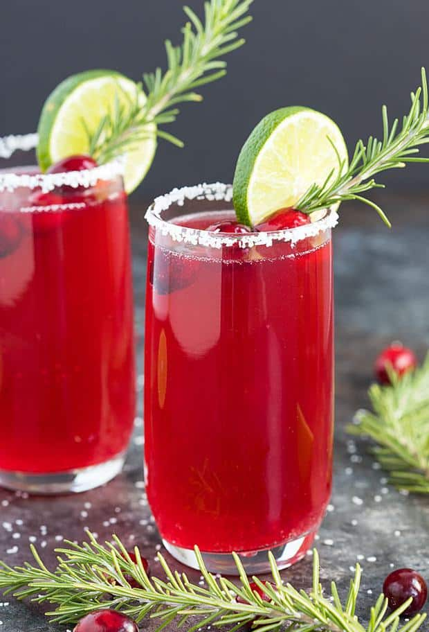 Cranberry Mimosa Margaritas -- Part of the Best Alcoholic Drinks
