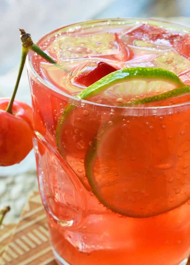 Cherry Lime Tequila Cocktail -- Part of the Best Alcoholic Drinks