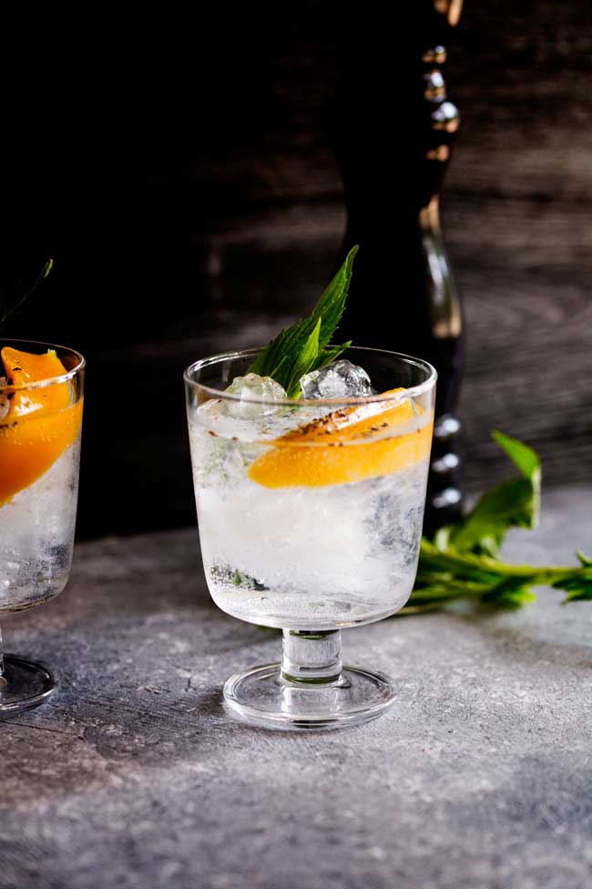 Mango and Black Pepper Gin and Tonic -- Part of the Best Alcoholic Drinks