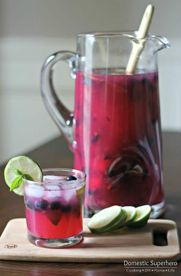 Blueberry Basil Margaritas -- Part of the Best Alcoholic Drinks