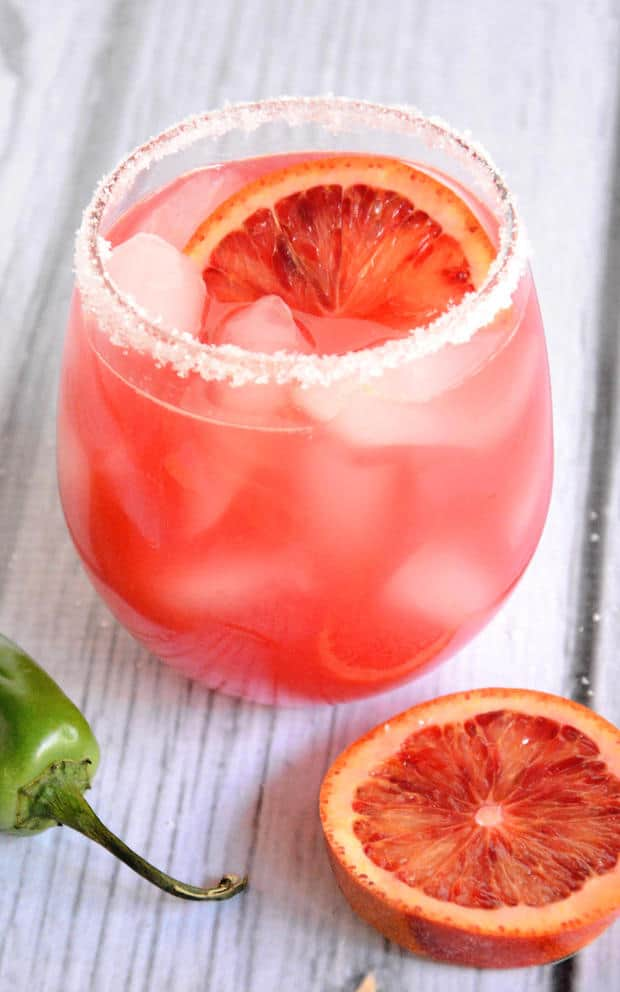 Blood Orange Margarita -- Part of the Best Alcoholic Drinks