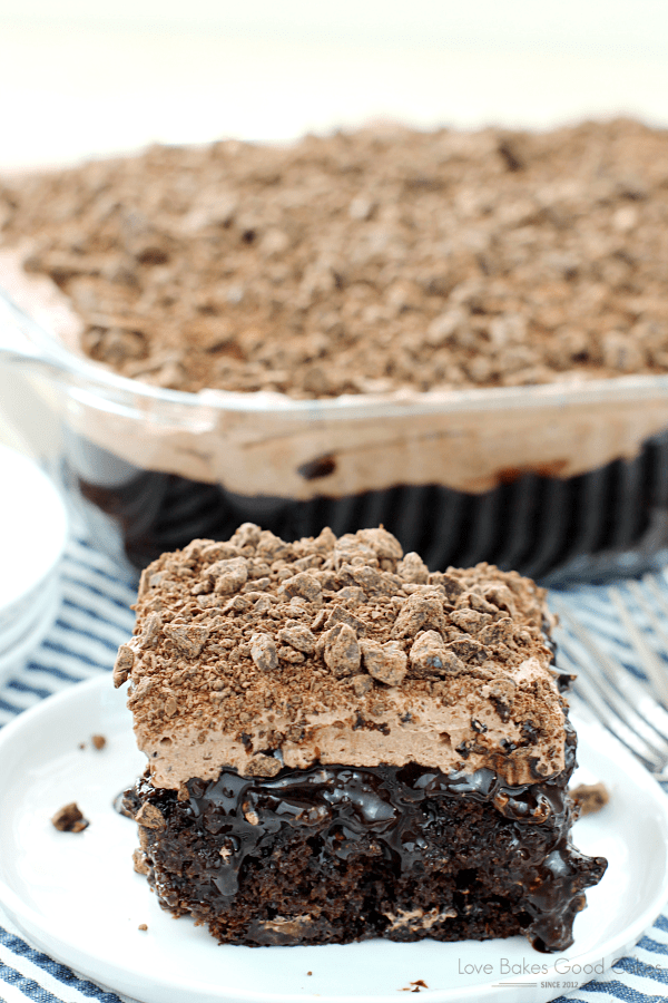 Take my advice …. y'all might wanna sit down for this one. And say a prayer. Ask for forgiveness, because what you are about to see is a sin, I'm sure! You have to make this Death By Chocolate Poke Cake!!