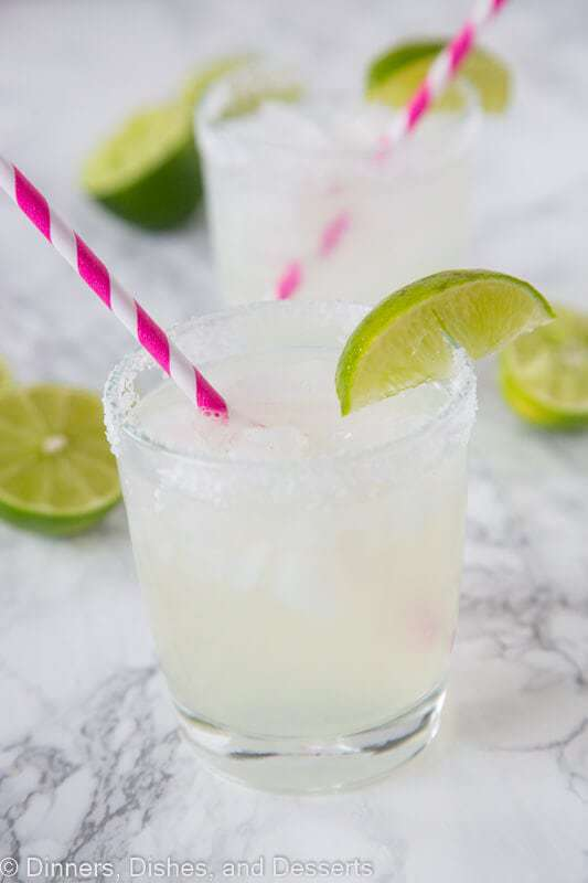Classic Lime Margarita on the Rocks -- Part of the Best Alcoholic Drinks