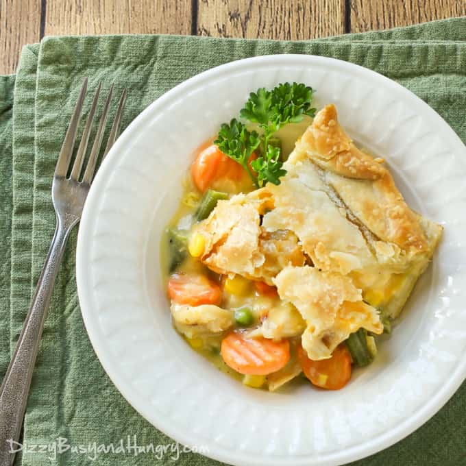 Danielle's Chicken Pot Pie is always a family favorite, and it is SO incredibly easy.