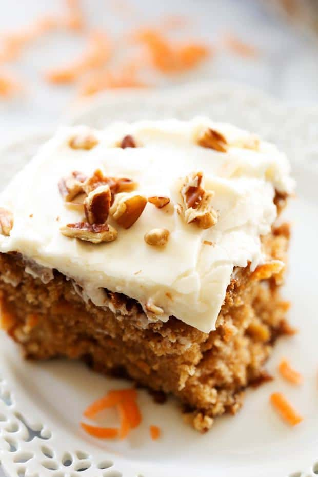 This Carrot Cake is absolutely DELICIOUS! It has a secret ingredient that helps to enhance its flavor and make it exceptionally moist! This will quickly become a new favorite and will be your go-to carrot cake recipe!