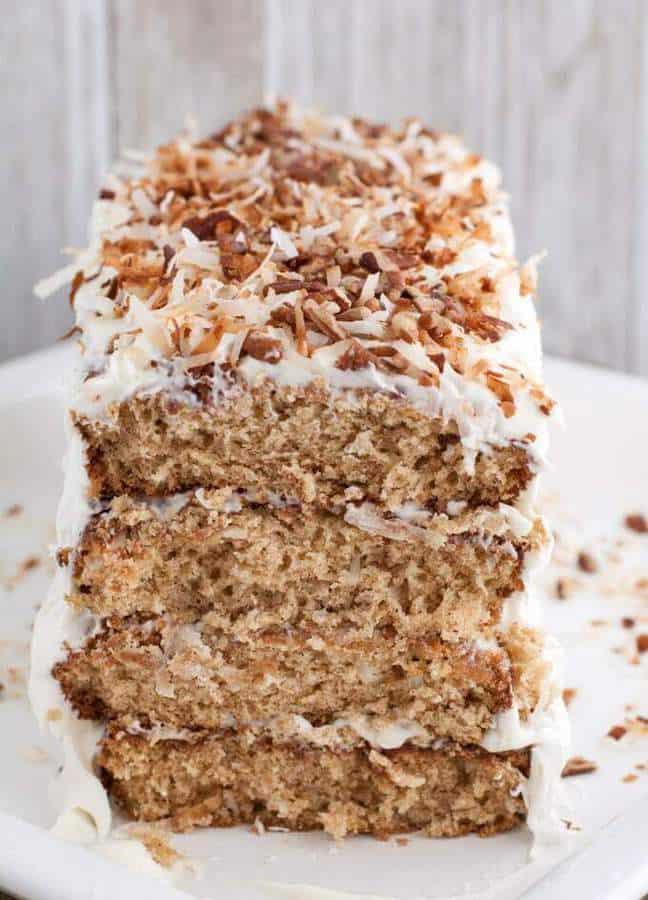 Layered Coconut Spice Cake