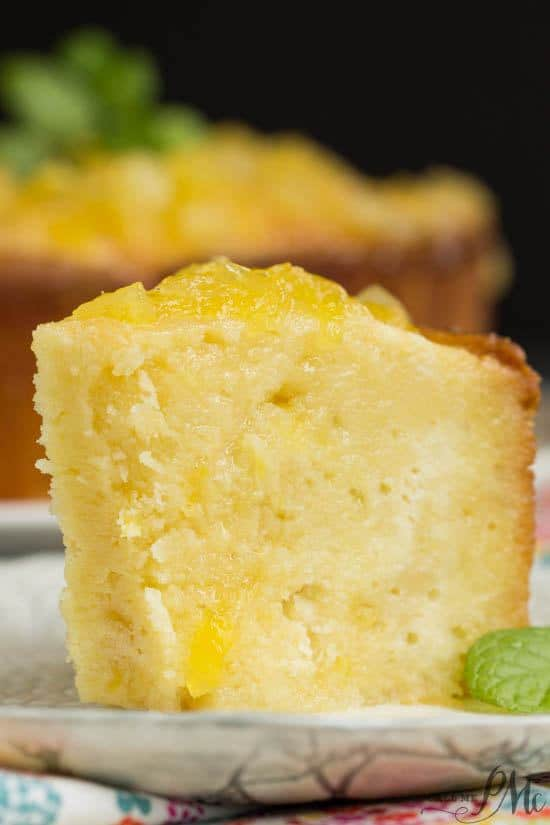A taste of the tropics, Two Step Pineapple Pound Cake recipe, is super moist and exceptionally easy to make in just two steps. To complete this dessert a simple pineapple glaze is drizzled on top.