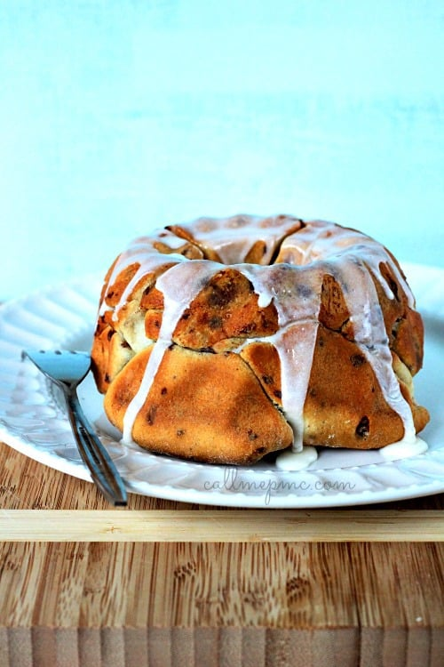 Sausage Cinnamon Roll Monkey Bread is a sweet and savory tasty treat for breakfast or snack.