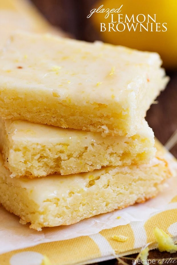 Glazed Lemon Brownies -- part of Easy Brownie Recipes for Every Occasion