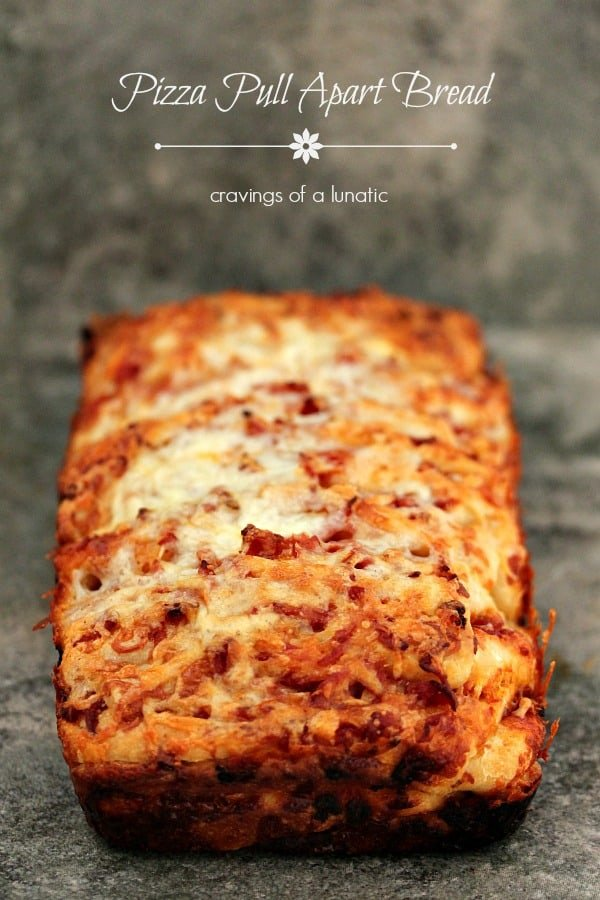 An easy and quick version of Pizza Pull Apart Bread that is perfect for those busy nights where you want something delicious fast!