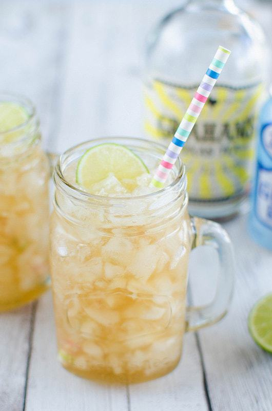 Sweet Tea Mules – a southern twist on the classic mule. Sweet tea vodka, ginger beer, and lime juice! So easy and so delicious!