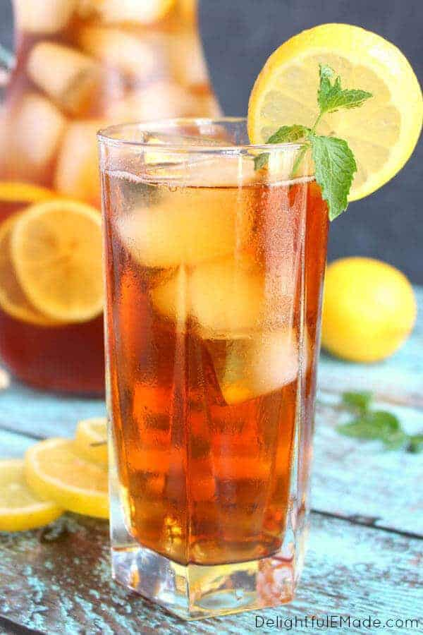 It wouldn't be summer without a cold, refreshing glass of lemon ginger sweet tea! This recipe is made with fresh lemon and ginger for the most amazing flavor. Perfect for sipping on a hot day!